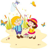 Kids in nature Royalty Free Stock Photo