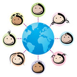Kids network royalty free stock images