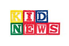 Kids News - Alphabet Baby Blocks on white Stock Photography