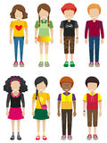 Kids with no faces Royalty Free Stock Photo