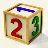 Kids Number Block As Symbol For Numeracy Stock Photography