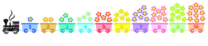 Kids number train Royalty Free Stock Images