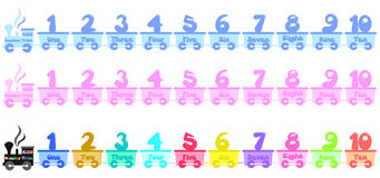 Kids Number train Royalty Free Stock Photos