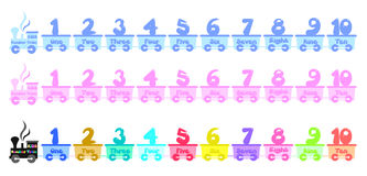 Kids number train Stock Photography