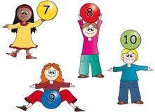 Kids numbers Stock Photos