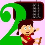 Kids & Numbers Series - 2 stock illustration