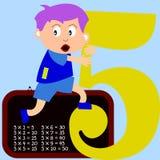 Kids & Numbers Series - 5 stock illustration