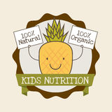 Kids nutrition. Design, vector illustration eps10 graphic Stock Images
