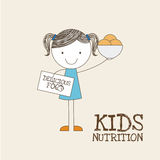 Kids nutrition Royalty Free Stock Images