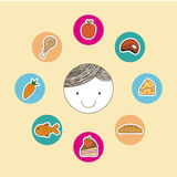 Kids nutrition Stock Images