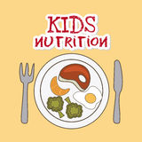 Kids nutrition Stock Image