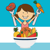 Kids nutrition Royalty Free Stock Photos