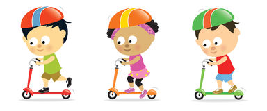 Free Kids On Scooters 2 Stock Photography - 15661852