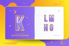 Kids Original colour font for creative design template. Flat illustration EPS10.  royalty free illustration