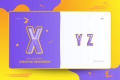 Kids Original colour font for creative design template. Flat illustration EPS10.  vector illustration
