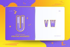 Kids Original colour font for creative design template. Flat illustration EPS10.  stock illustration