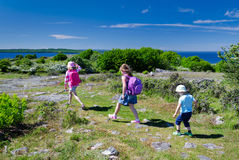 Kids outdoor adventure Royalty Free Stock Images