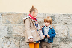 Kids outdoors Stock Images