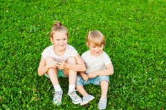 Kids outdoors Royalty Free Stock Images