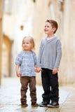 Kids outdoors portrait Stock Photo