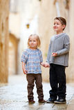 Kids outdoors portrait Stock Images