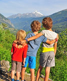 Kids outdoors Stock Image