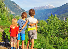 Kids outdoors Stock Photography