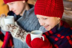 Kids outdoors on winter Stock Photography