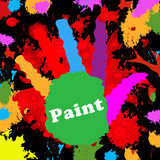 Kids Paint Indicates Spectrum Watercolor And Multicolored Royalty Free Stock Photo