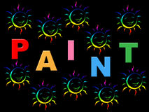 Kids Paint Represents Color Children And Youngsters Stock Photos