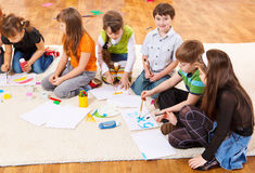 Kids painting Stock Image