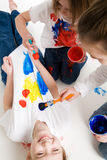Kids painting Stock Images