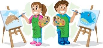 Kids painting Stock Photo