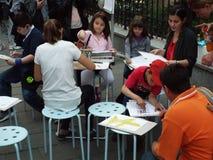 Kids painting workshop Stock Image
