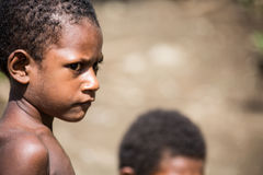 Kids of Papua New Guinea Royalty Free Stock Photography