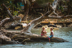 Kids of Papua New Guinea Royalty Free Stock Images