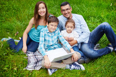 Kids and parents Stock Photography