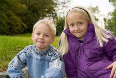 Kids in the park Royalty Free Stock Photo