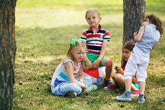 Kids in park Royalty Free Stock Photos