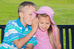 Kids in a Park Stock Image