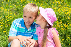 Kids in a Park Royalty Free Stock Photo