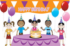 Kids Party 2 royalty free illustration