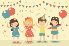 Kids party. An illustration of kids party Stock Photo