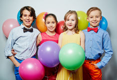 Kids at party stock photography