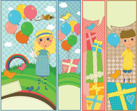 Kids Party and Birthday Banners stock illustration