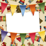 Kids party card Stock Photo