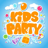 Kids Party design template. Royalty Free Stock Image