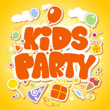 Kids Party design template. Royalty Free Stock Photography