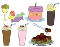 Kids party foods Royalty Free Stock Images