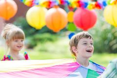 Kids on a party royalty free stock photo